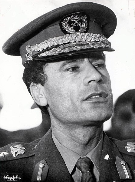 Gaddafi, pictured shortly after his seizure of power on a visit to Yugoslavia in 1970.